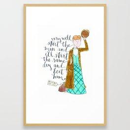 Nellie Bly Framed Art Print