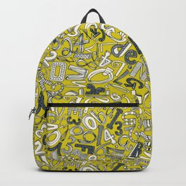 A1B2C3 chartreuse Backpack