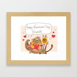 Happy Valentine's Day Friend! Framed Art Print