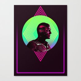 Vision 80's Character Poster Canvas Print