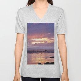 Misty Sunset Unisex V-Neck