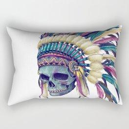 Native Skull Headdress Rectangular Pillow
