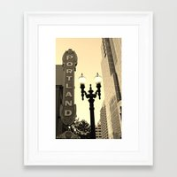 portland Framed Art Prints featuring Portland by DarkMikeRys