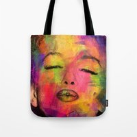 marilyn Tote Bags featuring MARILYN  by mark ashkenazi