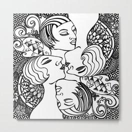 Lady Mandala Metal Print
