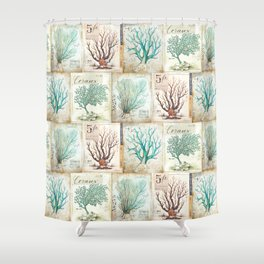 Blue Coral No. 2 Shower Curtain