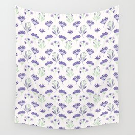Purple Seed Pods Wall Tapestry
