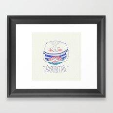 summertime cat Framed Art Print