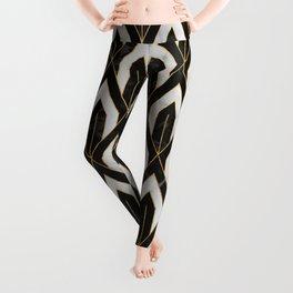 Art Deco Marble Pattern Leggings