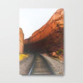 Carving Through the Canyon Metal Print