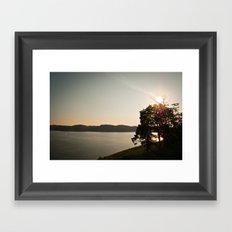 Lake Cumberland Sunset Framed Art Print