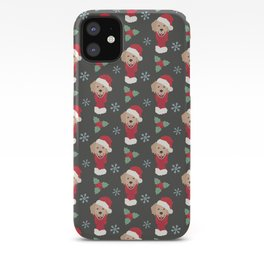 Golden Retriever Christmas Dog iPhone Case