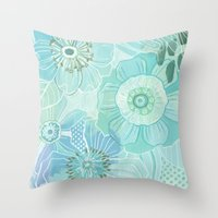 Hooray Blue! Throw Pillow