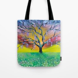 Entanglement, colorful tree landscape, beautiful landscape, cypress tree Tote Bag