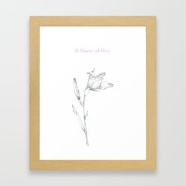A flower of flour Framed Art Print