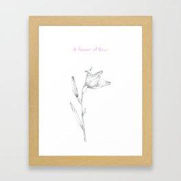 A flower of flour Framed Art Print