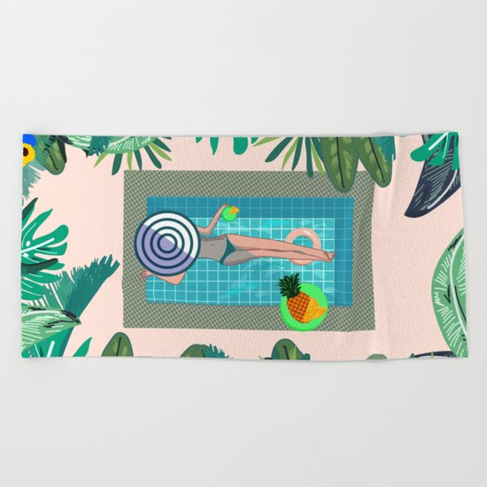 Summer in Marrakech Beach Towel