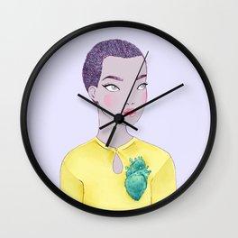 cactus heart ii Wall Clock