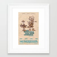movie posters Framed Art Prints featuring Amathias Pictures -  Imaginary movie posters by Pedro Hamdan