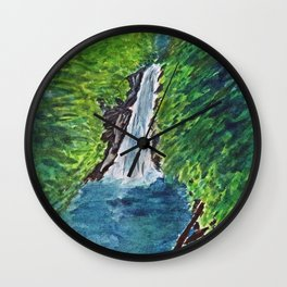 Waterfall Grenada Wall Clock