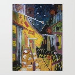 Cafe Terrace at Night a la Mela Poster