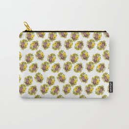 Butter Yellow Pansies Pattern Carry-All Pouch