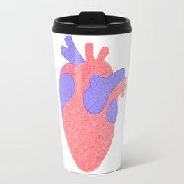 Lacy Valentine Anatomical Heart Travel Mug