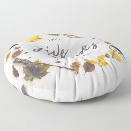 Psalm 9:1 Give Thanks Floor Pillow