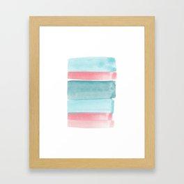 Minimalist Rose and Mint Print Framed Art Print
