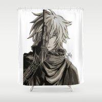 noir Shower Curtains featuring Noir by OtakuRuki