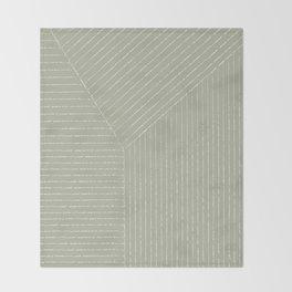 Lines (Linen Sage) Throw Blanket