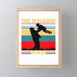 The Walking Dad fathers day Gift Framed Mini Art Print
