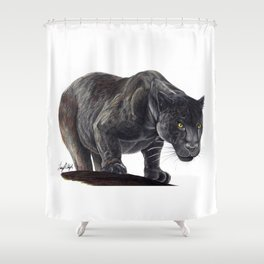 Black Jaguar Shower Curtain