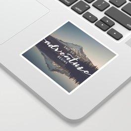 Trillium Adventure Begins - Nature Photography Sticker