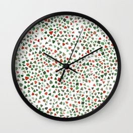 Christmas color palette Wall Clock