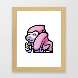 Pink Gorilla X Enfu Gorilla Framed Art Print
