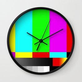 SMPTE Television TV Color Bars Wall Clock