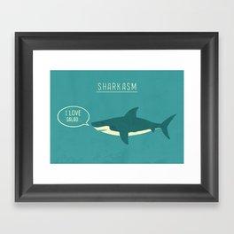 Sharkasm Framed Art Print