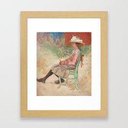 CARL LARSSON, DAGMAR GRILL Framed Art Print