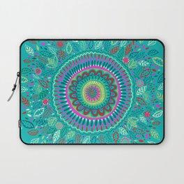 leafy Turquoise Mandala Laptop Sleeve