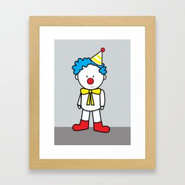 Kiko the Clown Framed Art Print