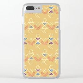Summer Warli Print Clear iPhone Case