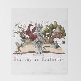 Reading is Fantastic Throw Blanket