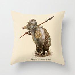 Armadillo (option) Throw Pillow