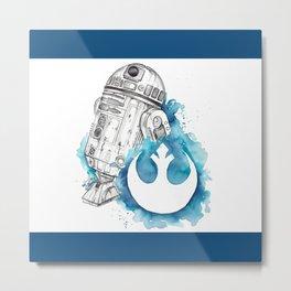 R2 Droid -blue Metal Print