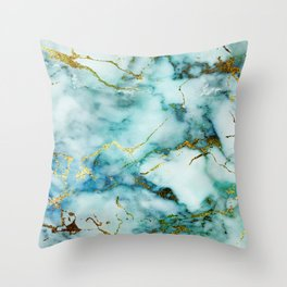 Marble Effect #1 Throw Pillow