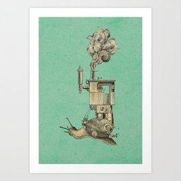 Steamsnail Art Print