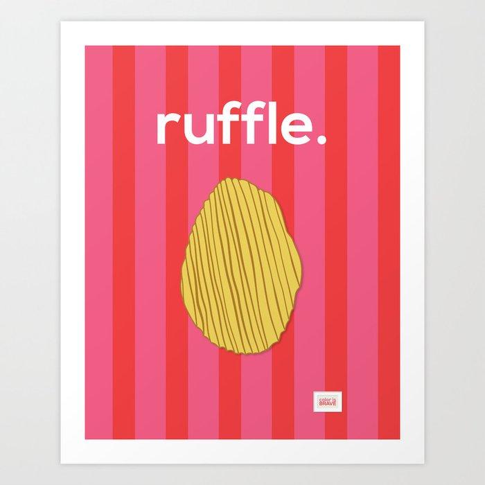 Ruffle Art Print
