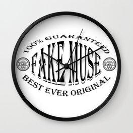 Fake Muse badge (black) Wall Clock