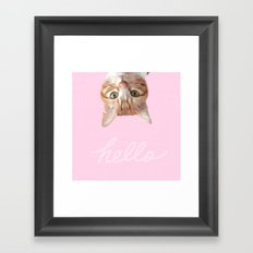 THIS IS THE WAY CAT SAYS HELLO 2 Framed Art Print